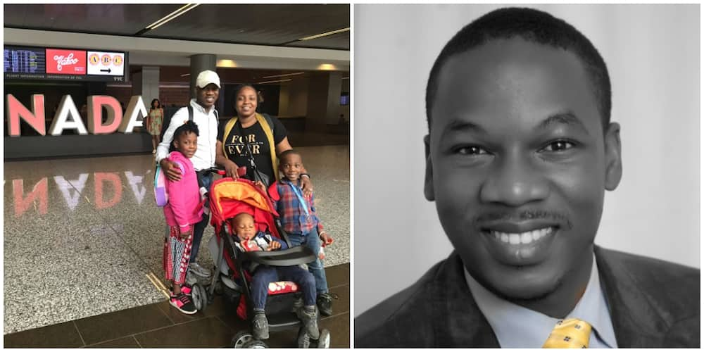Reactions as Nigerian man celebrates leaving the country for Canada, says it is their home now