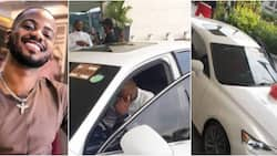 Korede Bello's manager dumbfounded as singer surprises him with brand new car for birthday (photos)