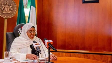 Aisha Buhari declares war on women, girl illiteracy as president prays for Nigeria in Saudi