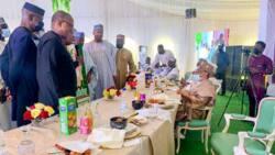 Updated: IBB, Obasanjo, Saraki, Secondus, others in closed-door meeting, photos emerge