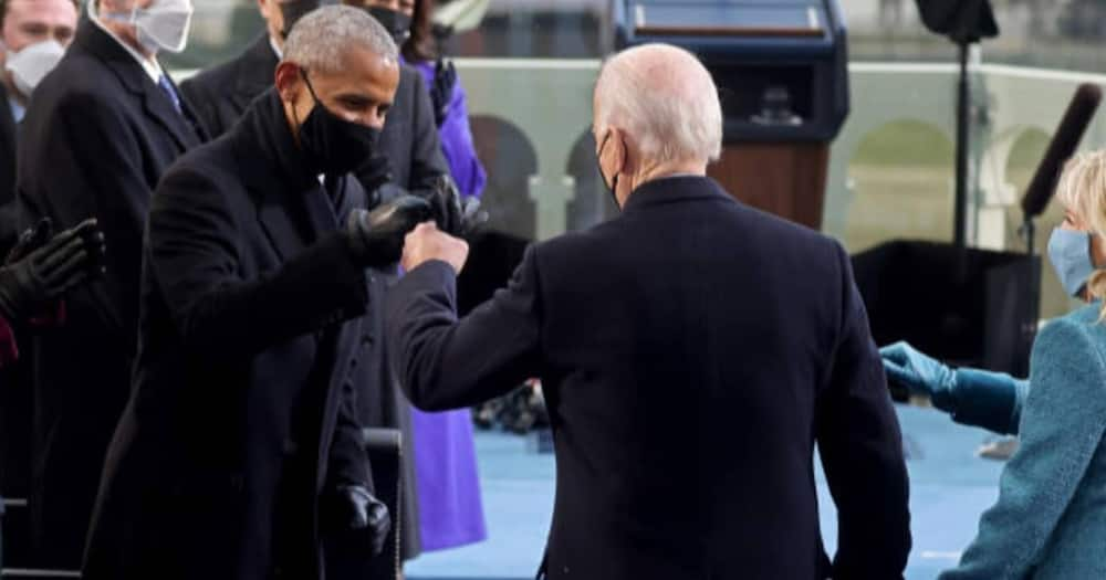 Joe Biden appears to be wearing bulletproof vest during highly guarded inauguration ceremony