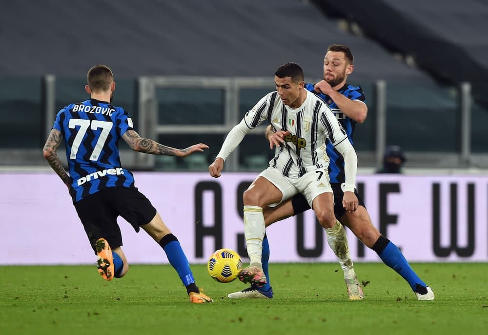 Cristiano Ronaldo in action for Juve