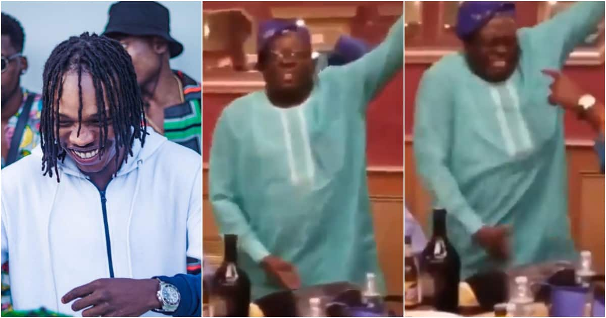Nigerian father caught on camera passionately busting moves to 'Soapy' dance