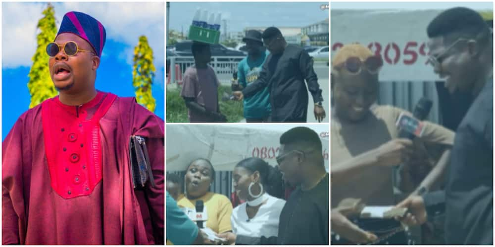 Mr Macaroni Hits the Streets on His Birthday, Makes People Emotional With Cash Gifts in Touching Video