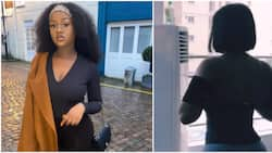 She's glowing: Nigerians react as Davido's Chioma flaunts body, shows off exercise routine