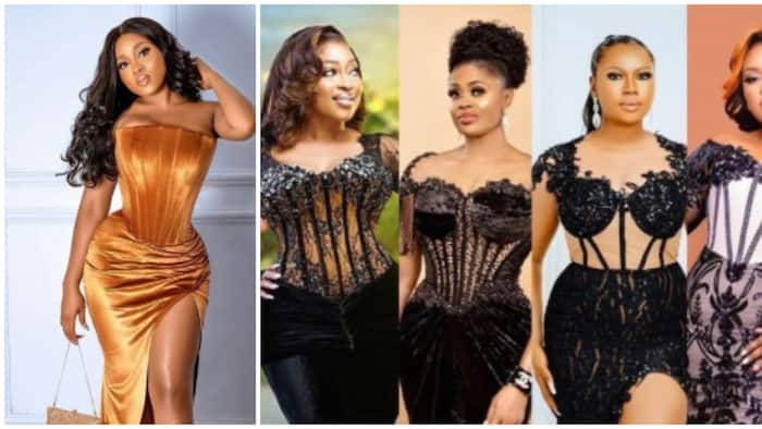 Asoebi fashion: 4 beautiful women with different body types slay the corset look