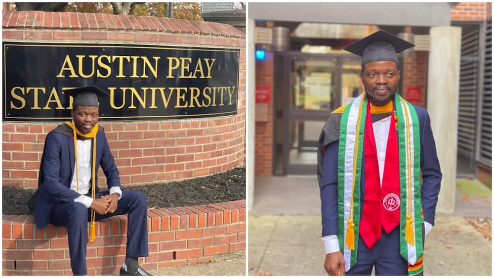 Young man bags master's degree from top US school, gets job