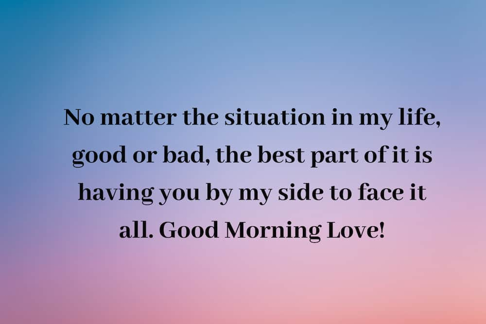 Good morning love message