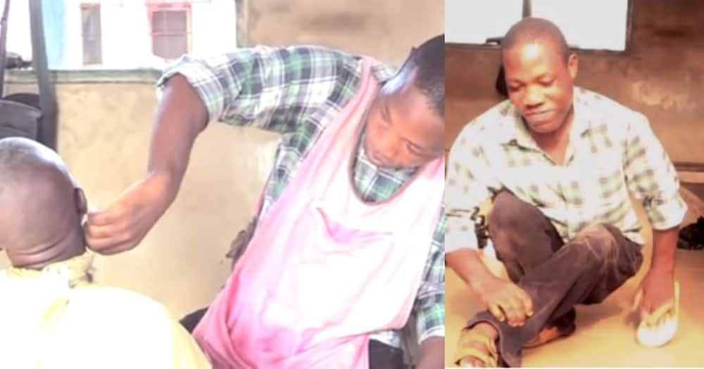 I Got Paralysed at Age 8 From Injection: Physically Challenged Barber Shares Heartbreaking Story