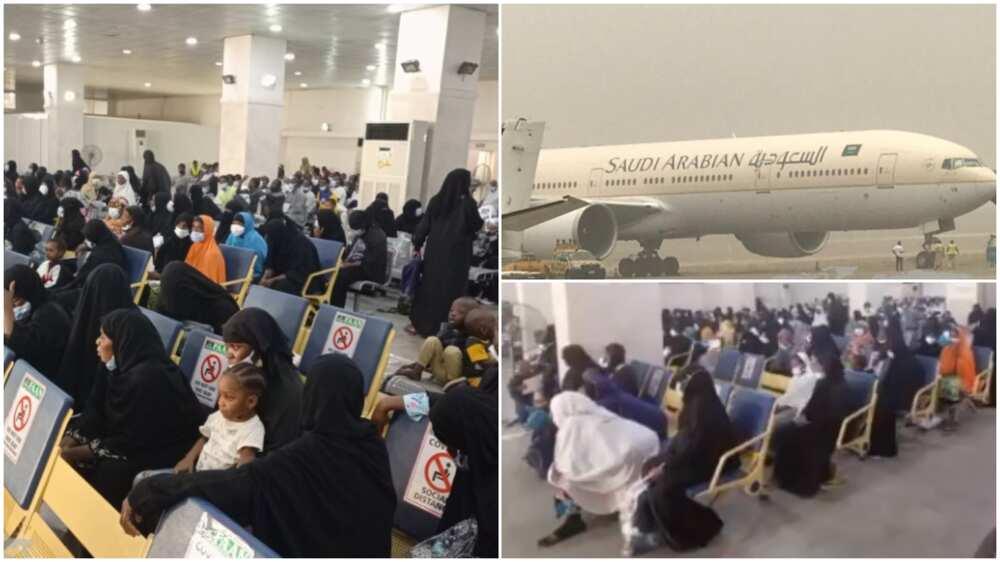 FG evacuates stranded Nigerians in Saudi Arabia, their arrival photos spark massive reactions