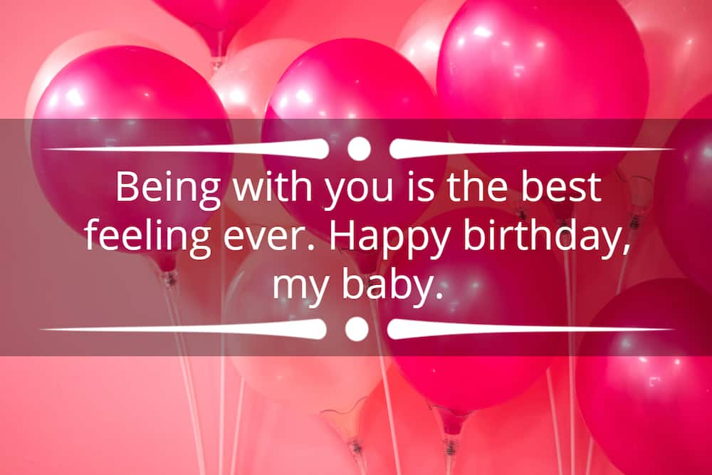 sweet birthday message for her