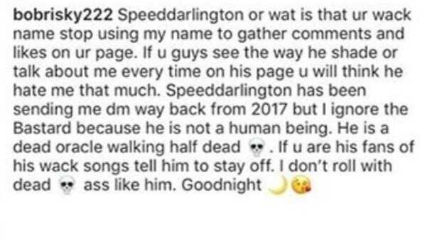 Bobrisky slams Speed Darlington as he leaks screenshots of his DM with him
