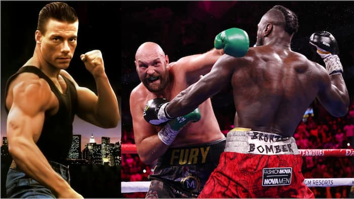 Panic for Tyson Fury, Wilder as kick-boxer hero and movie legend Van Damme reacts to trilogy fight