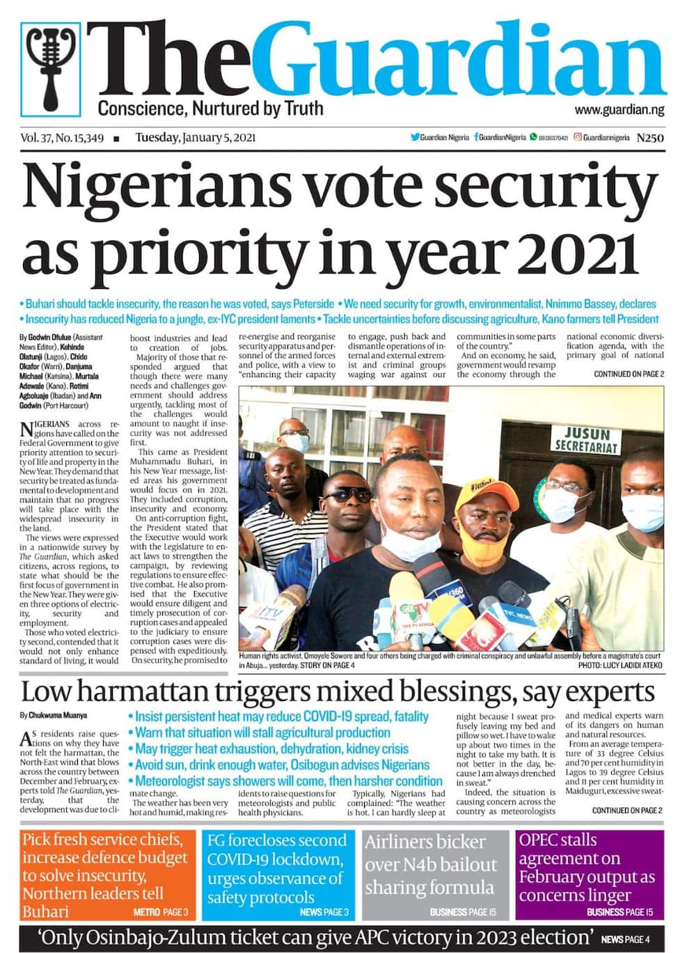 Newspaper reviews: FG accuses Amnesty, ICC, of fuelling insecurity in Nigeria
