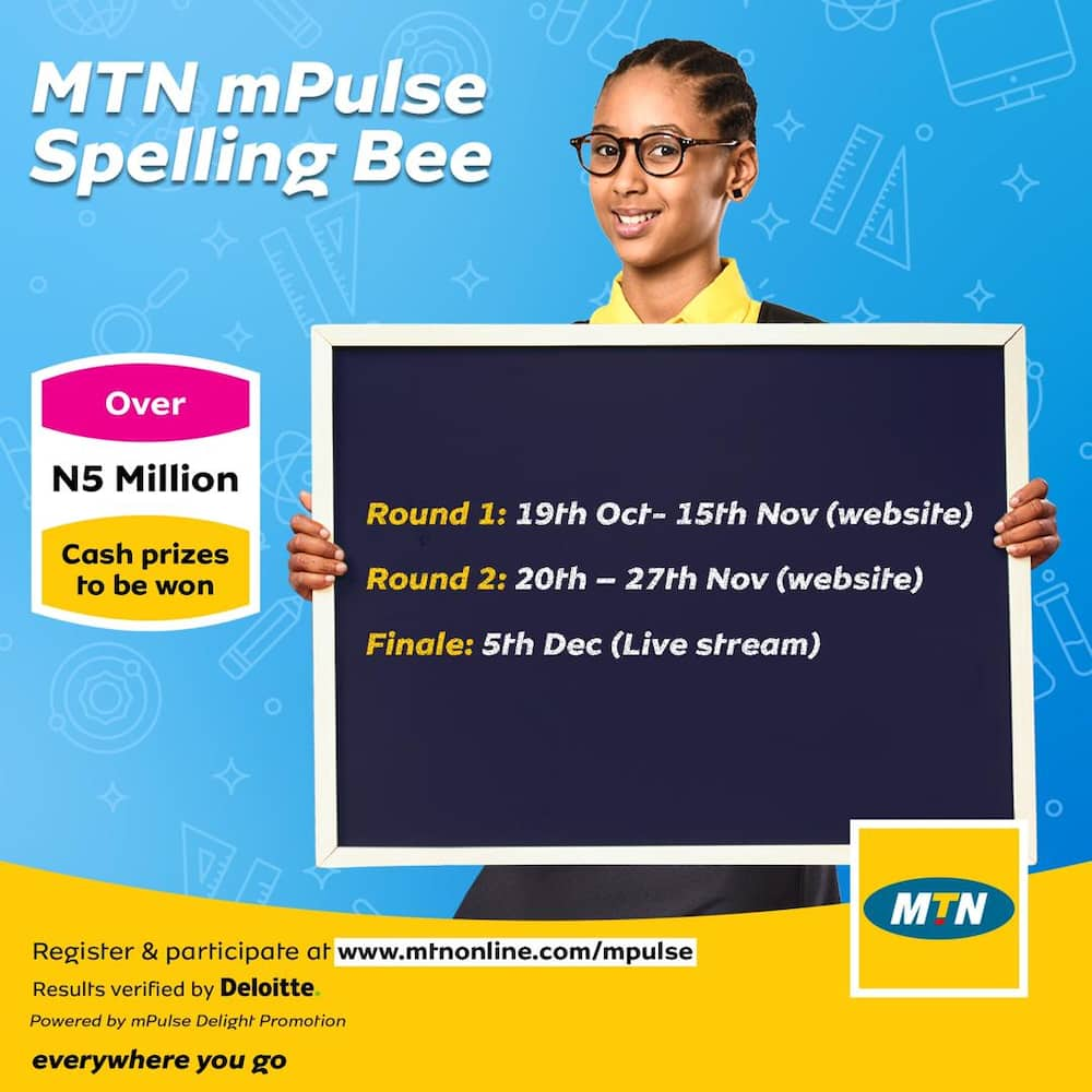 Great prizes to be won at this year's MTN mPulse Spelling Bee Competition