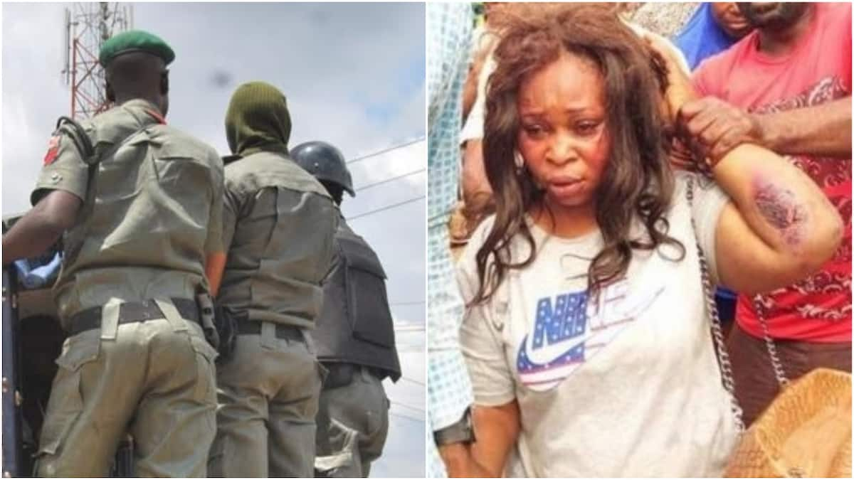 Young lady handed to the police for kidnapping a 2-month-old baby in Imo state