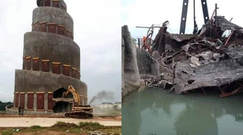 Outrage as Imo govt allegedly takes down Freedom Park, Akachi Tower - Legit.ng
