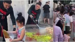 Kindhearted chef makes food and serves many poor villagers, adorable video stirs massive reactions