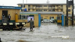 Video digest: Flood takes over police station in Lagos