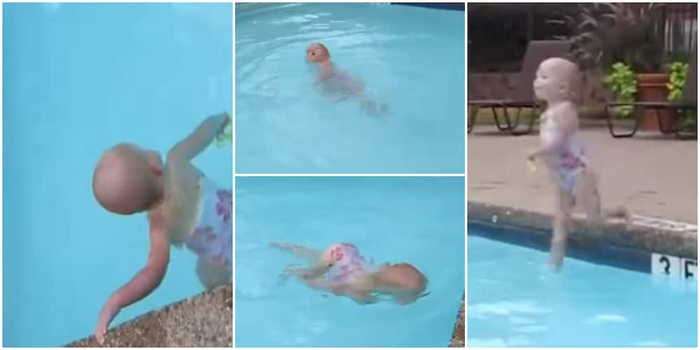 16-Months-Old Girl Swims in Pool Effortlessly, Her Swimming Skills Stuns the Internet in Viral Video