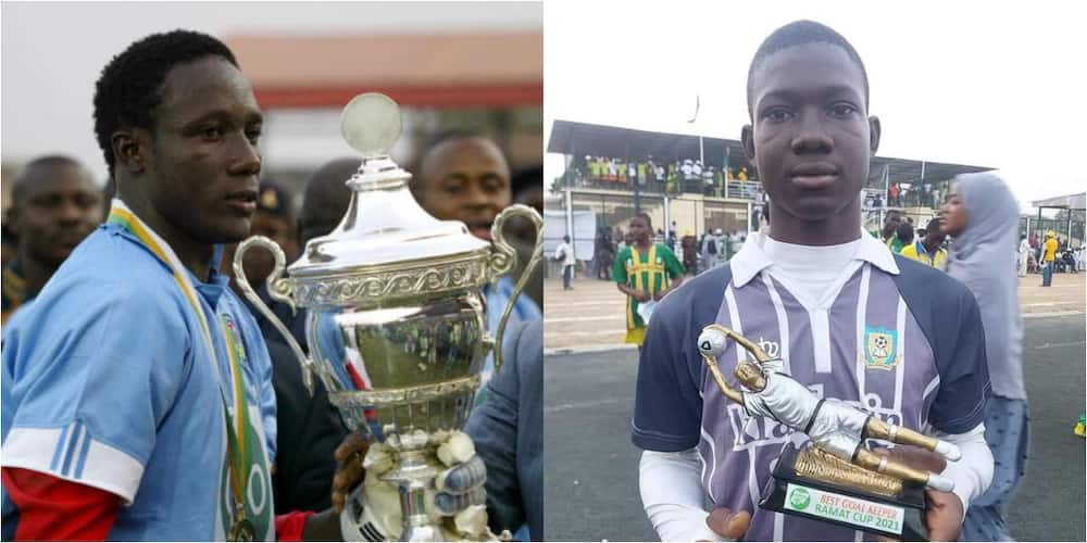 Ex-Super Eagles star's son wins prestigious award after following his father's footsteps to become a goalie