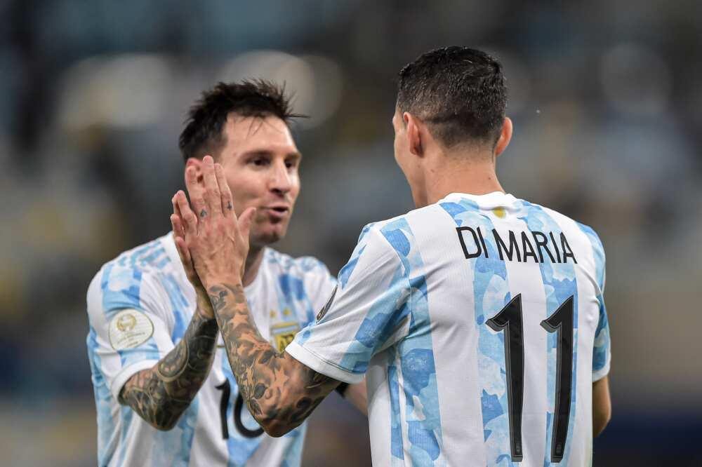 Angel Di Maria and Messi