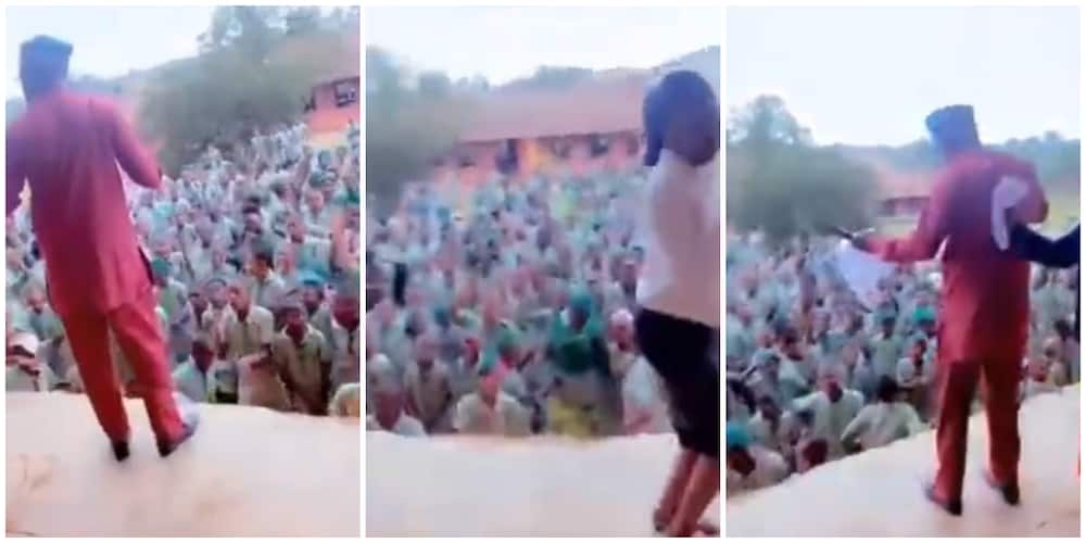 'Primary school' students and teachers scatter assembly ground as they dance to Shedibalabala song in video