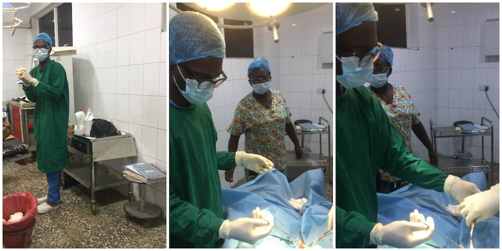 Nigerian Doctor Shares Photos During a Medical Operation as he Laments Missing a Football Match Because of it