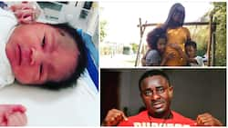 Nollywood actor Emeka Ike and wife Yolanda welcome baby girl in Germany, doting dad shares first photos
