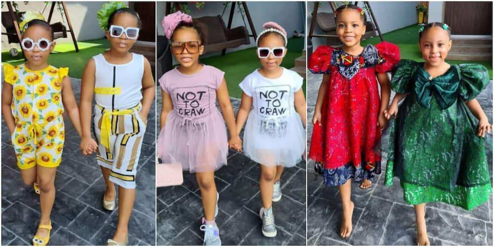 We like 'denge posing' - Little twin models who are taking social media by storm with their style declare as their mum speaks