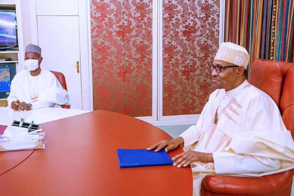 Tsaro: Buhari da Masari sun gana a Abuja