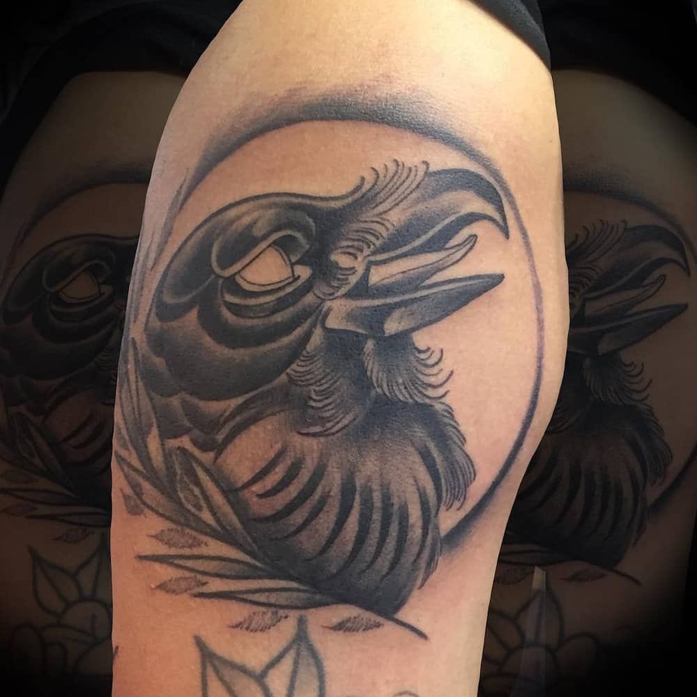 bddd1e9ea Raven tattoo: meaning and 50 design ideas ▷ Legit.ng