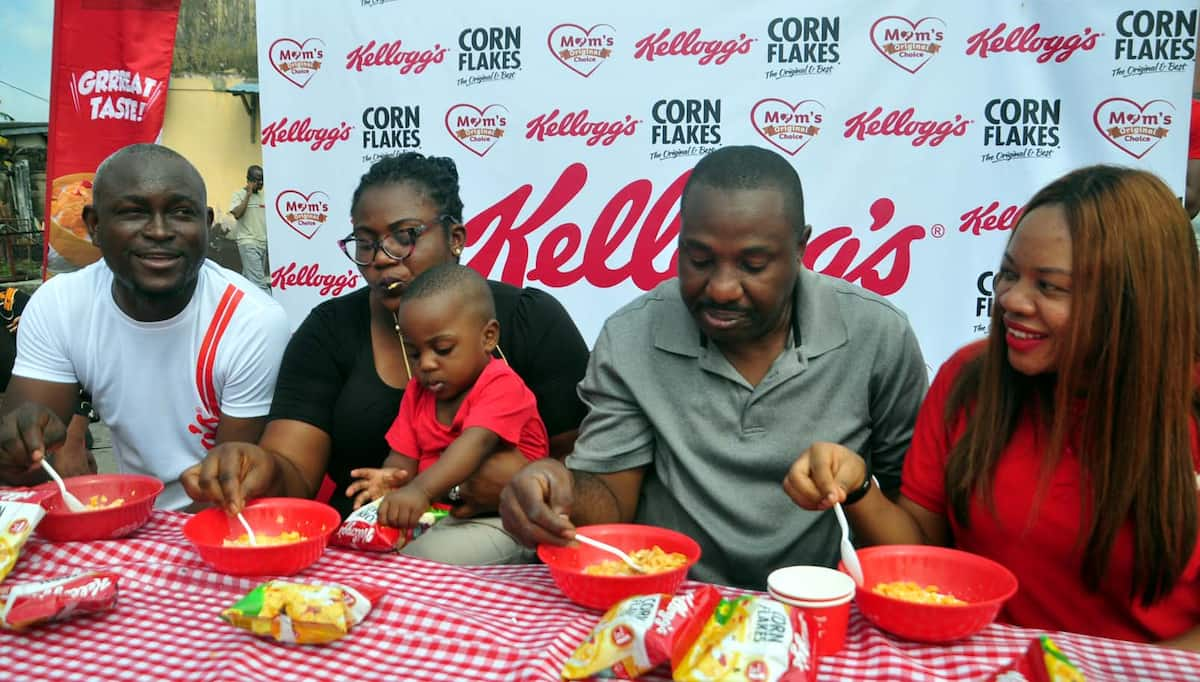 Kellogg's gathers over 1000 families for the Big Family Breakfast Treat - Legit.ng