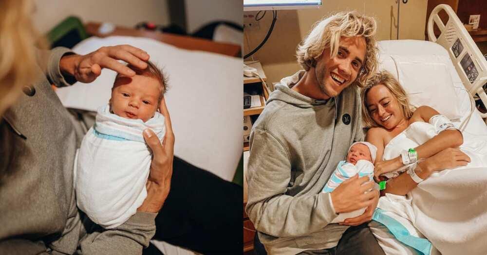 Mom, video, son, born, hair, viral