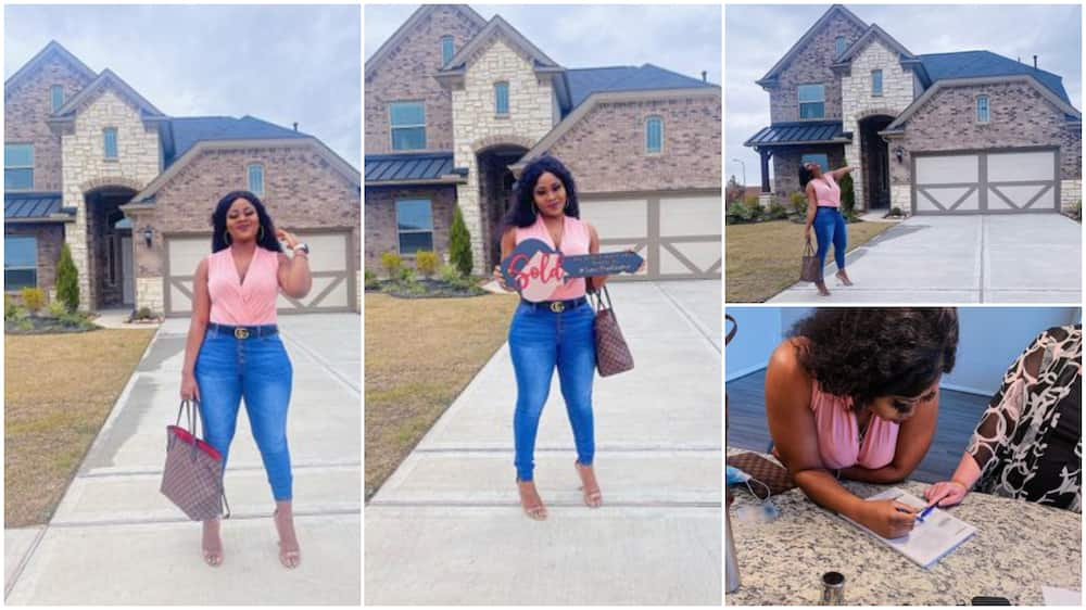 Young Nigerian lady 'buys' home in America as nurse, some disagree