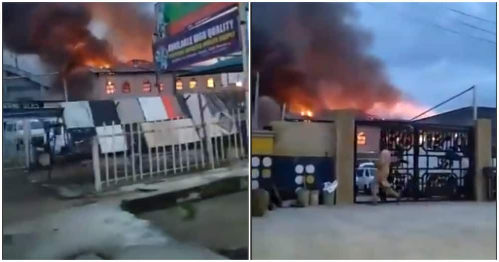 Just in: Worshippers reportedly trapped as Fire guts RCCG parish