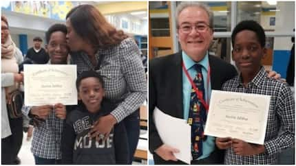 2baba Idibia's son bags Black Students Achievement Award in US (photos)