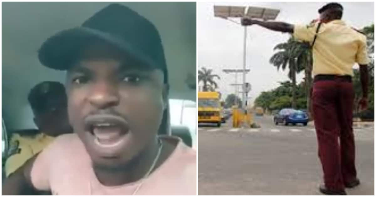 LASTMA: Man records his encounter with an officer inside his vehicle (video) - Legit.ng