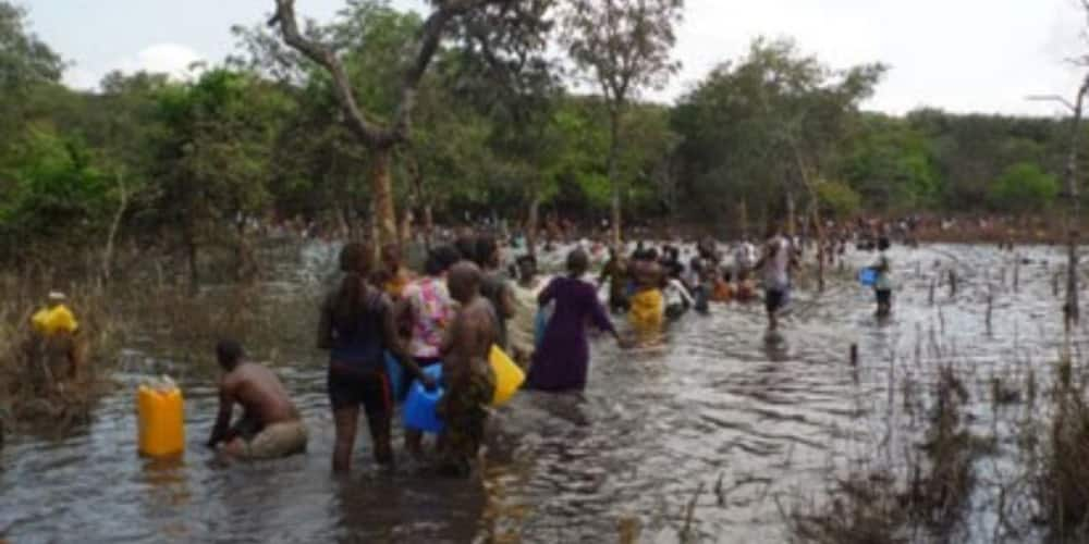 People fetch water from Miracle Stream