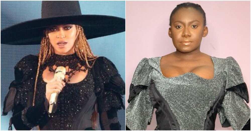 Singer Nini and Beyonce