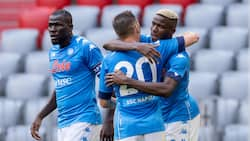 Super Eagles striker Victor Osimhen sends warning to Serie A defenders with goals as Napoli thrash Bayern