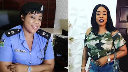 Carry your ID card when leaving the house - Nigerians advise Dolapo Badmos as she rocks off-shoulder camo