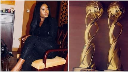 BBNaija Cee-C excited as she bags two awards at social media event