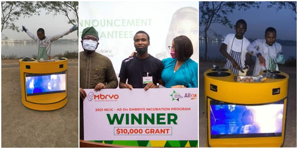 Student who built solar-powered cooker with a television wins N4m start-up grant