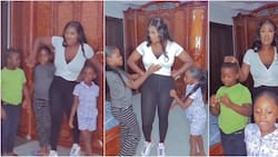She has 4 kids, look at her tummy: Mercy Johnson in awe of her kids as they boldly advertise her products