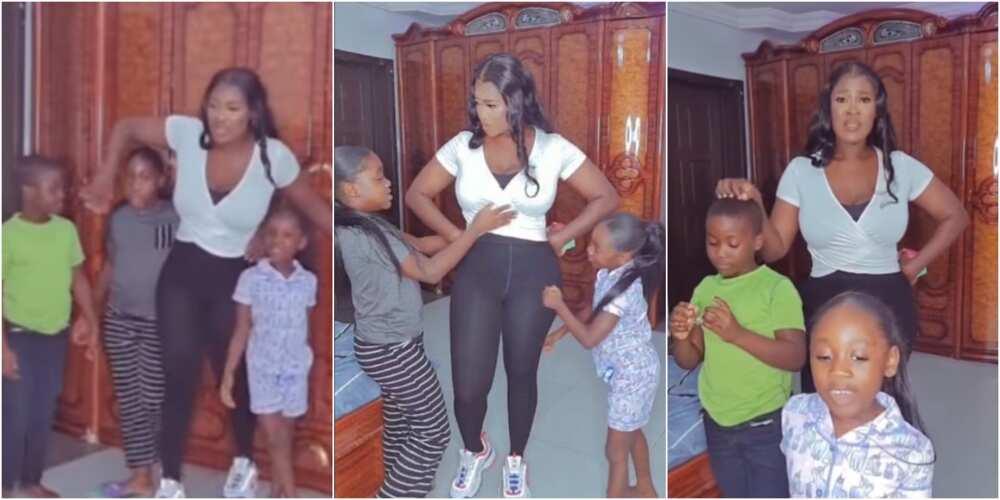 Mercy Johnson and her kids
