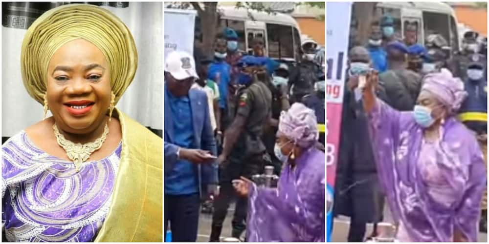 Celebrate them while They are Alive: Veteran Actress Iya Awero Gifted 3 Bedroom Flat by Governor Sanwoolu