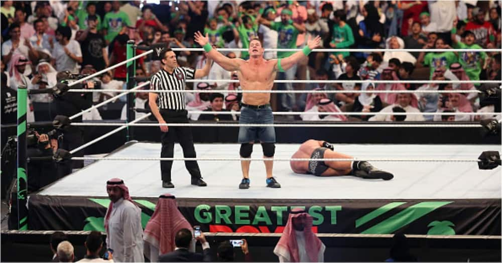 John Cena sparked rumours of a possible return to the ring in May