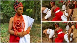 Troll blasts actress Chioma Akpotha for twerking in Benin queen outfit (video)