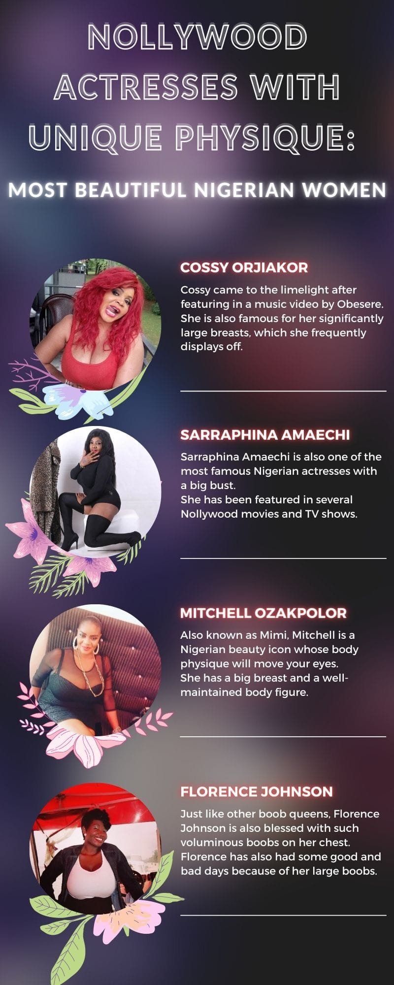 Nollywood actresses with unique physique